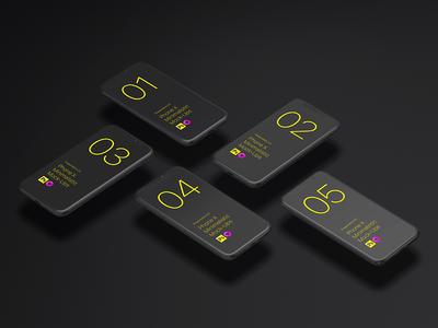 iPhone X Minimalistic Mock-Ups display toolkit matte ui design template showcase minimalistic isometric application apple design app
