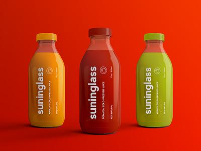 Juice Bottle Packaging Mock-Ups Vol.2 label realistic deit drink fresh bottled package beverage mockup glossy bottle glass