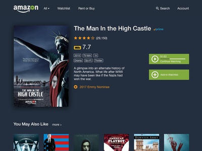 Amazon Video Redesign ui design web design