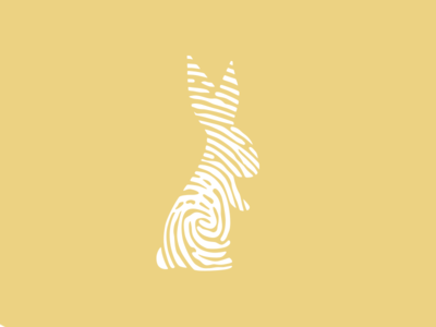 Fingerprint Rabbit rabbit fingerprint icon logo