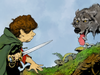 Coloring Frazetta's Hobbit