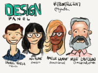 Sketchnotes from FrontSLC2017 Design Panel