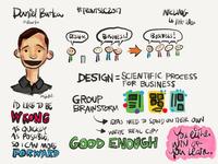 Sketchnotes for Daniel Burka Front SLC 2017 presentation