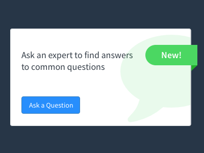 Ask a Question Widget ui simple question ask flat clean design widget