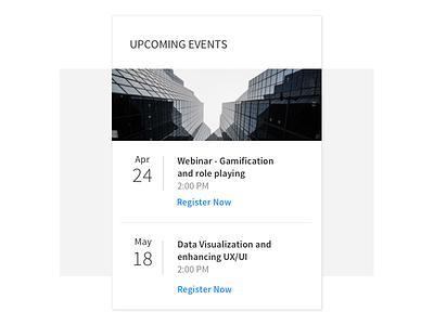 Event Widget dashboard layout flat clean dailyui schedule minimal simple ui widget event