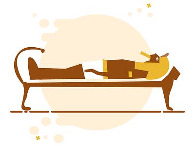 "Sleeping Pharaoh ""King Tut"" egypt ancient simple icon pharaoh egyption ui dailyui"