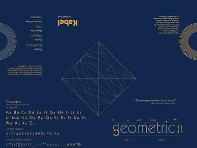 Kabel Specimen Typeface foldable booklet type illustration lettering font artdeco geometric geometric font typeface kabel typography