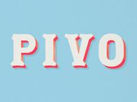 Pivo — Lettering