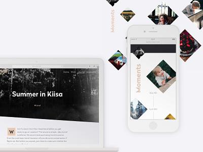 Kerttu Noor — UI Design branding creative geometric art fashion angular diagonal clean minimalism minimalist photographer photography web design ui