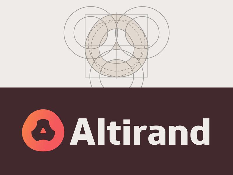 Altirand — Ideogram Grid & Logo Variation store shop electronics store electronics vector whitespace typography e-commerce design branding space negative abstract geometric creative minimalist logo clean