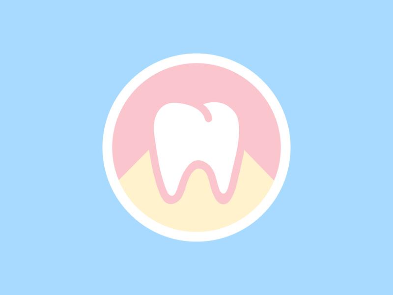 Dental Office — Pictorial Logo pictogram mark pictorial icon badge dental logo health dental tooth dentist