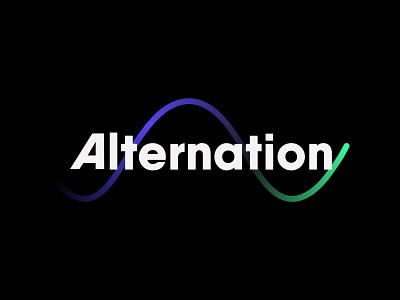 Alternation — Logo Design waveform sine forward movement oscillation alternation consultancy change wave type brand abstract typography design branding geometric creative minimalist logo clean