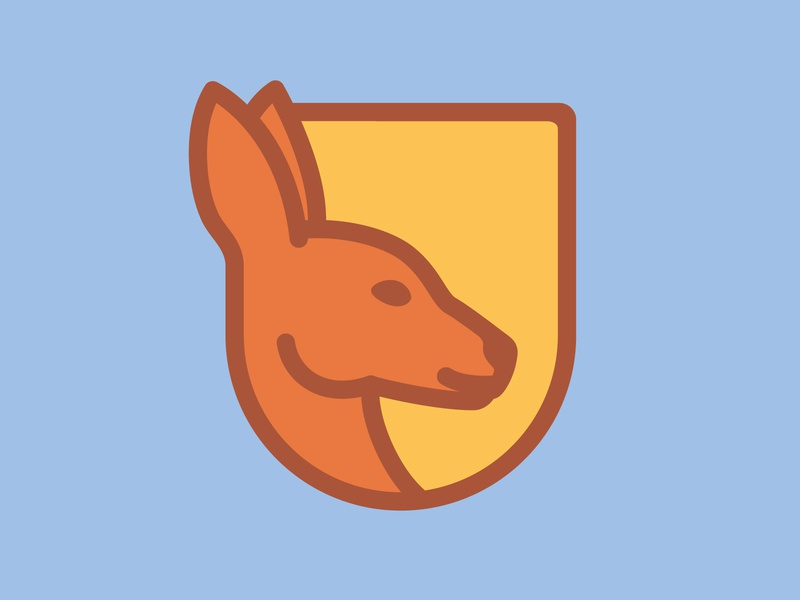 Prep Kanga — Pictorial Logo e-commerce ship prep kanga animal emblem badge logistics delivery shipping kangaroo illustration brand design branding geometric creative minimalist logo clean