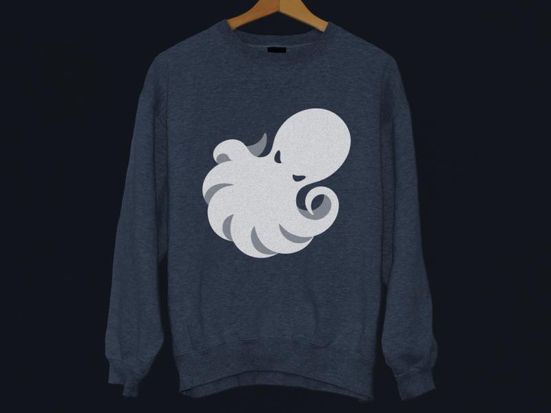 CrossFit Abyss — Logo Jumper jumper minimalism emblem space negative brand design branding clean minimalist creative illustration geometric gym logo animal octopus