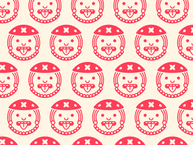 Bike in Mex | Pattern logo design brand branding minimalist creative stencil clean illustration monochrome mexico mayan aztec geometric illustration geometric repeat motif textiles textile pattern