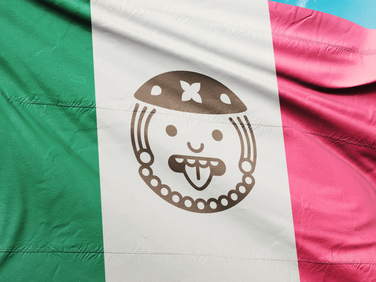 Bike in Mex | Flag clean minimalist creative flags geometric nation country symbol illustration branding design brand design branding rental bike brand bicycle maya aztec mexico flag