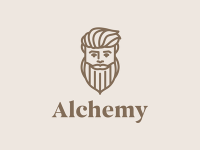 Alchemy | Logo Design premium health wellness beard manly man illustration design brand geometric logo clean branding minimalist creative