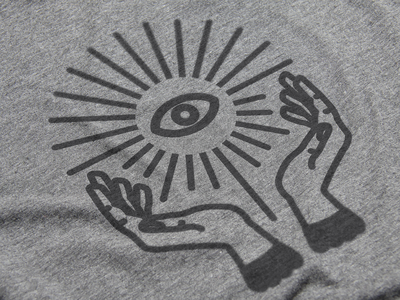 Grit Cult | Illustration geometric logo branding clean minimalist creative gritty shirt hands eye mystery black illustration cult grit