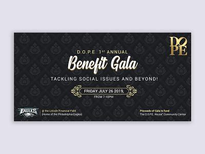 Benefit Gala branding design illustration graphic events eventbrite eventbriter banner gala