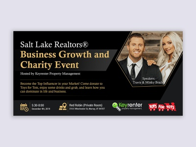 Business Growth and Charity Event event flyer graphic event banner charity growth business banner events eventbrite event eventbriter