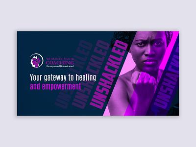Women Unshakeled event design eventbrite eventbriter banner design banners event online banner women empowerment