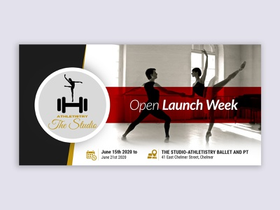 Open Launch Week banner design event cover event flyer event banner graphic events event eventbrite banner eventbriter online events training dance