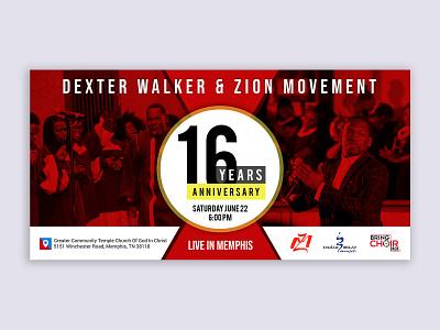 16 Years Anniversary Event event cover event flyer event banner graphic events event banner party 16 years eventbrite eventbriter