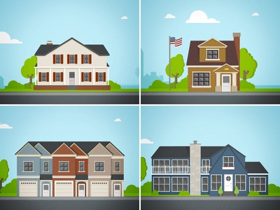 Houses vloan houses vector illustration