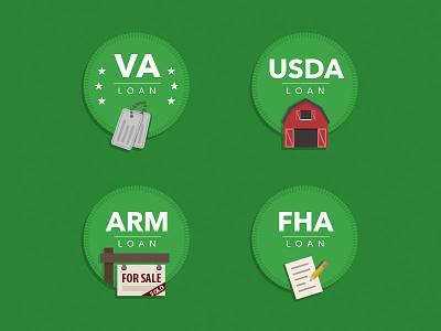 Loan Badges illustration vloan loans badges vector