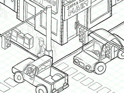 Comic Work in Progress illustration photoshop comic