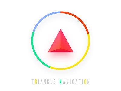 Triangle Navi colorful icon navigation triangle