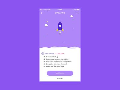 Updating rocket new update ui app