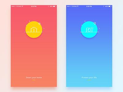 First Screen smart welcome screen ui app