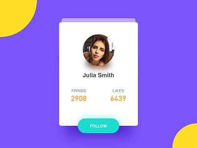 Friend Card card follow contact