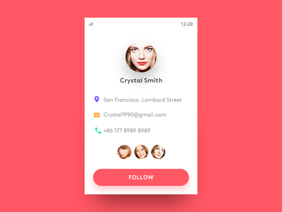 Profile contact profile design ui