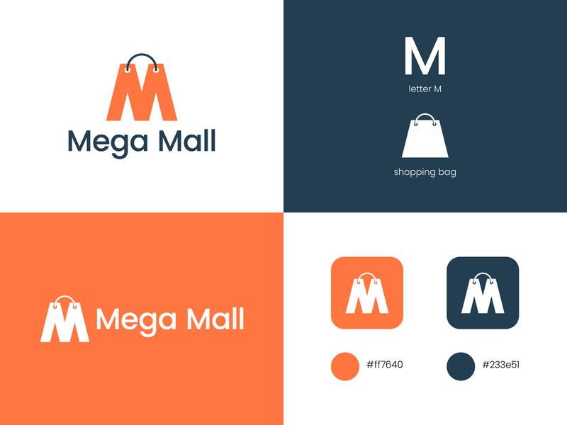 M letter mark logo design