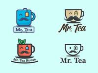 """Mr. Tea"" - Tea brand logo concept"