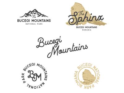 Bucegi Mountains Logo Concept