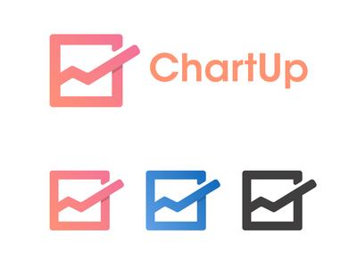 ChartUp logo & name concept