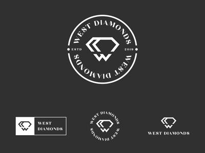W and Diamond logo concept