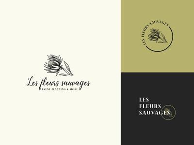 Flower shop logo - Les fleurs sauvages
