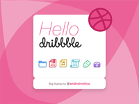 Hello Dribbble — a few icons