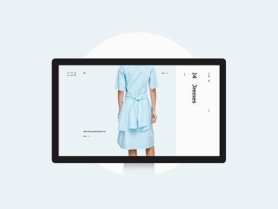 COS web ux ui site pure minimalism minimal grid exploded e-commerce desktop