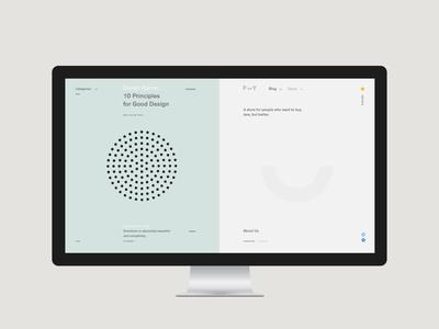 F — Y web ux ui site pure minimalism minimal grid exploded e-commerce desktop