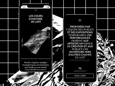 The Mel concept art app ux ui iphonex blackwhite minimalism minimal grid explored mobile
