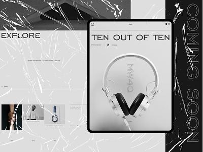 Master&Dynamic iphone iphonex ios store minimal site web headphones music shop ux ui
