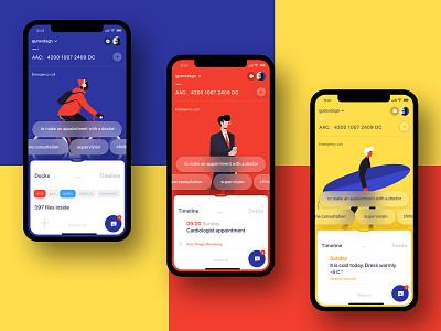 Health App ios app design e-commerce ux ui minimal