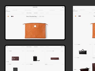 Long River fashion shop swiss minimalism minimal web webdesign e-commerce uiux