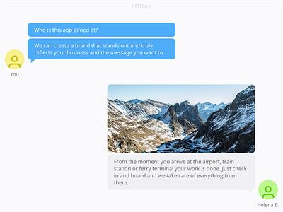 Conversation — Live Chat App ui web grey blue sketch app live chat conversation