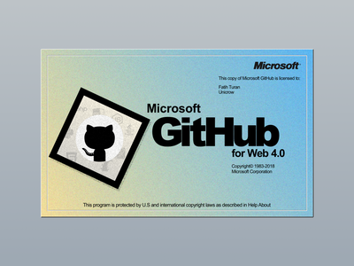 Microsoft GitHub Splash microsoft github splash ui sketch app